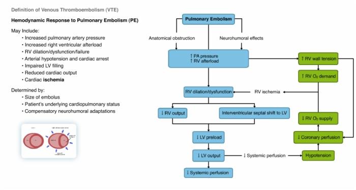 Hemodynamic Response To Pulmonary Embolism PE